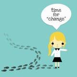 Changez pour la version meilleure de femme illustration de vecteur