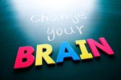 Changez votre concept de cerveau Photographie stock libre de droits