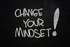 Changez votre mentalité Image stock