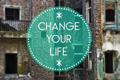 Changez votre vie nouvelle, concept commençant Photographie stock