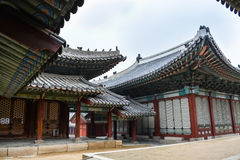 Changgyeong palace and houses Royalty Free Stock Photo