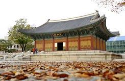 Changgyeong slott i Seoul Arkivbilder