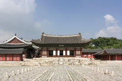 Changgyeong slottborggård - Seoul Arkivfoton