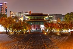 Changgyeonggung Palace in Autumn Seoul South Korea stock images