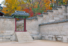 Changgyeonggung Palace in Autumn, Seoul stock photo