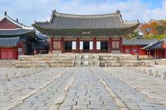 Changgyeonggung slott, Seoul, Sydkorea Royaltyfri Fotografi