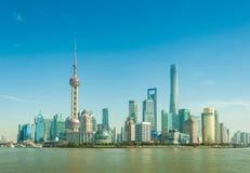 Changhaï, Chine : Le 21 janvier 2017 : horizon moderne de ville, Changhaï Image stock