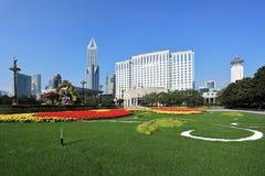 Changhaï le paysage carré des personnes photo stock