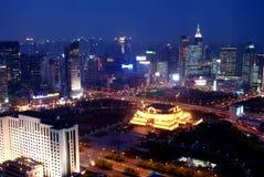 Changhaï par nuit Image libre de droits