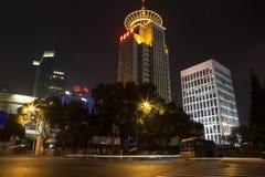 Changhaï Pudong la nuit photos libres de droits