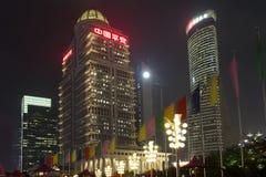 Changhaï Pudong la nuit Images stock