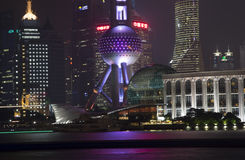 Changhaï Pudong la nuit photo stock