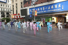 Changhaï Tai Chi Photographie stock