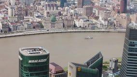 Changha? - 6 septembre 2013 : Secteur et fleuve Huangpu financiers de Changha? Lujiazui banque de vidéos