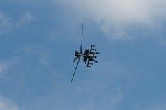 Changi, Σιγκαπούρη - 6.2010 FEB: Επιθετικό ελικόπτερο RSAF ah-64 Apache Στοκ φωτογραφίες με δικαίωμα ελεύθερης χρήσης