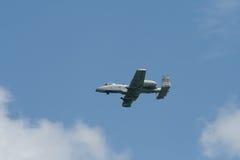 Changi, Σιγκαπούρη - 6.2010 FEB: USAF α-10 κεραυνός ΙΙ μαχητής Στοκ εικόνα με δικαίωμα ελεύθερης χρήσης