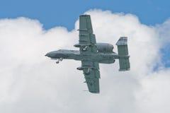 Changi, Σιγκαπούρη - 6.2010 FEB: USAF α-10 κεραυνός ΙΙ Στοκ φωτογραφία με δικαίωμα ελεύθερης χρήσης