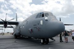 Changi, Σιγκαπούρη - 6.2010 FEB: USAF γ-130 Hercules Στοκ φωτογραφία με δικαίωμα ελεύθερης χρήσης