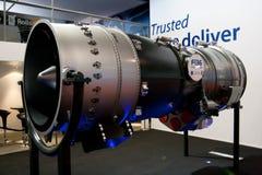 Changi, Сингапур - февраль 6,2010: Двигатель GE Rolls Royce F-136 Стоковые Изображения RF