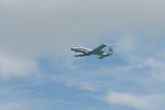 Changi, Сингапур - февраль 6,2010: Thunderbolt II USAF A-10 Стоковое Изображение RF