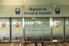 Changi Airport's Skytrain Photo libre de droits