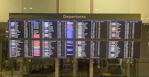 Departures at Singapore Changi International Airport Royalty Free Stock Photo