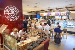 Changi Airport. SINGAPORE - CIRCA NOVEMBER, 2015: The Coffee Bean & Tea Leaf at Singapore Changi Airport. Changi Airport  is the primary civilian airport for Royalty Free Stock Photography