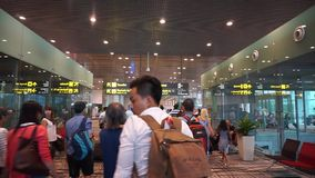 Changi airport in Singapore stock video footage