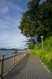 Changi Beach Singapore. Board walk along Changi Beach located at the eastern part of Singapore Stock Photos