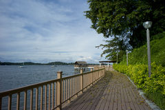 Changi Beach Singapore. Board walk along Changi Beach located at the eastern part of Singapore Stock Photography
