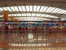 changi för 2 flygplats terminal Arkivfoton