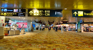 Changi International Airport in Singapore Stock Image