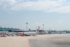 Changi Internationale Luchthaven, Singapore Royalty-vrije Stock Afbeelding