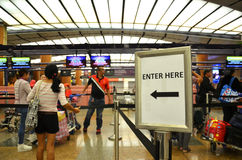 Changi Internationale Luchthaven in Singapore Royalty-vrije Stock Foto