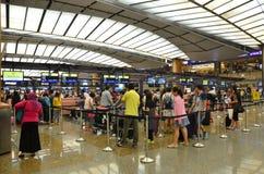 Changi Internationale Luchthaven in Singapore Stock Afbeeldingen