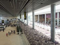 Changi Internationale Luchthaven, Terminal 4 Royalty-vrije Stock Afbeelding