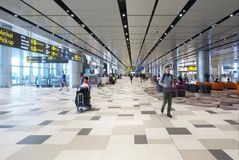 Changi Internationale Luchthaven, Terminal 4 Royalty-vrije Stock Foto