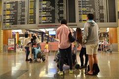 Changi internationell flygplats i Singapore Royaltyfria Foton
