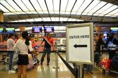 Changi internationell flygplats i Singapore Royaltyfri Foto