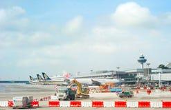 Changi lotnisko międzynarodowe Zdjęcie Royalty Free