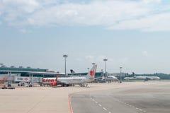 Changi lotnisko międzynarodowe, Singapur Obraz Royalty Free