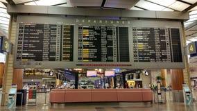 Changi lotnisko międzynarodowe Singapur Obraz Royalty Free