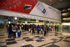 Changi lotnisko międzynarodowe w Singapur Obrazy Royalty Free