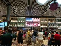 Changi lotniskowego Terminal 4 Otwarty dom Zdjęcia Stock