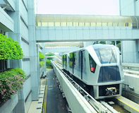 Changi Lotniskowy Skytrain, Singapur Zdjęcia Royalty Free