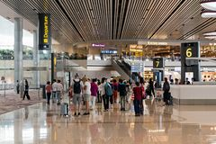 Changi Lotniskowy Terminal 4 Obraz Royalty Free