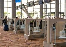 Changi Lotniskowy Terminal 4 - jaźń bagażu Usługowa kropla Obraz Stock