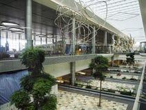 Changi Lotniskowy Terminal 4, Singapur Zdjęcia Royalty Free