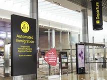 Changi Lotniskowy Terminal 4, Singapur Obraz Royalty Free