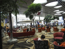 Changi Lotniskowy Terminal 4, Singapur Obrazy Stock